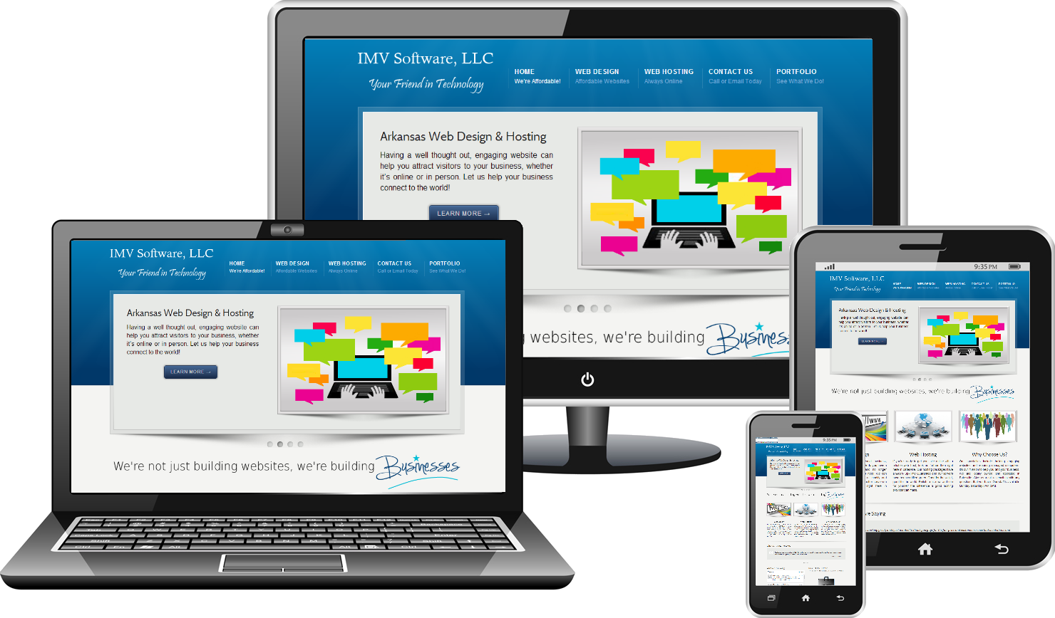 Responsive web design by web design specialist for Blueprint websites